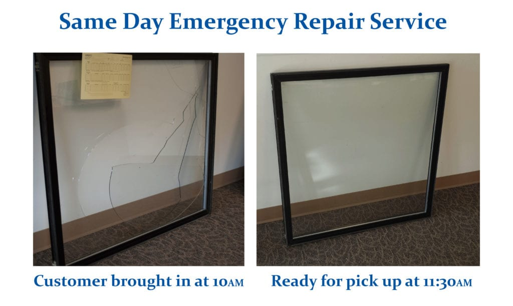 Same Day Emergency Service. Customer brought in at 10am, ready for pick up at 11:30am.